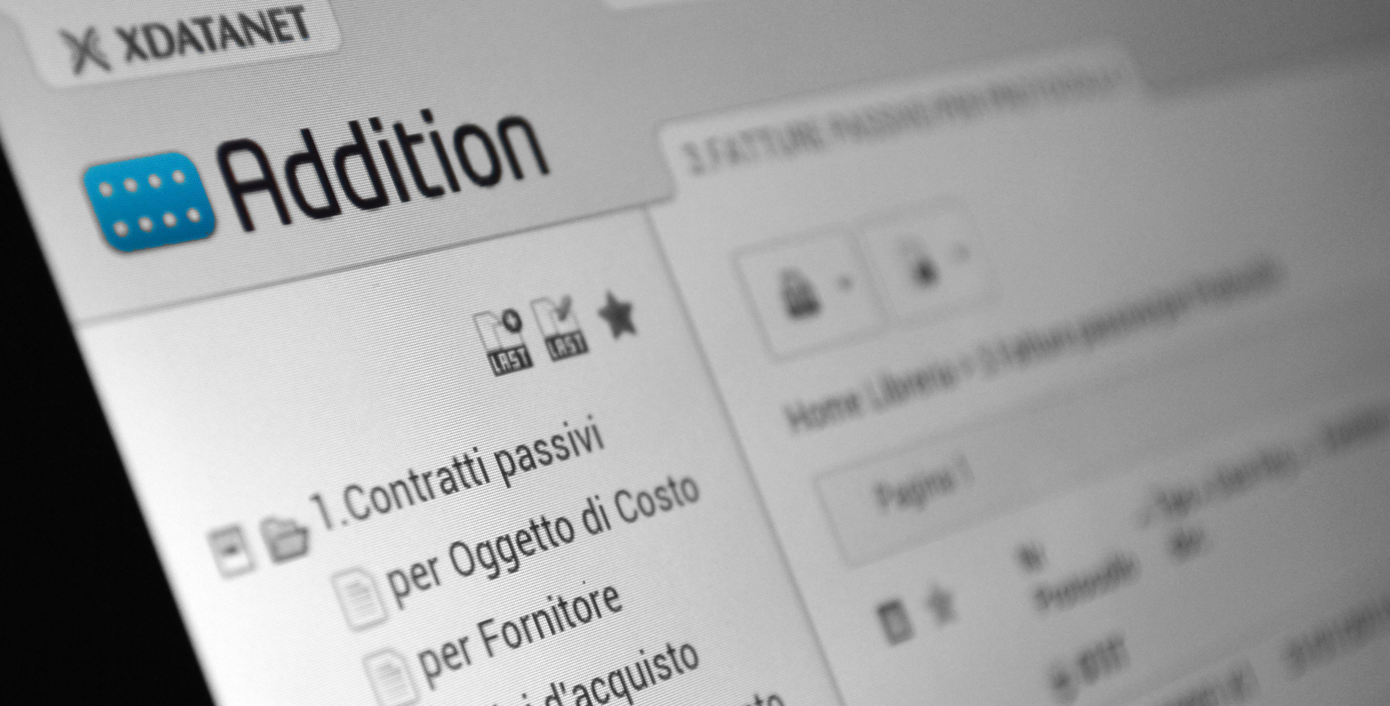 L'interfaccia di Addition