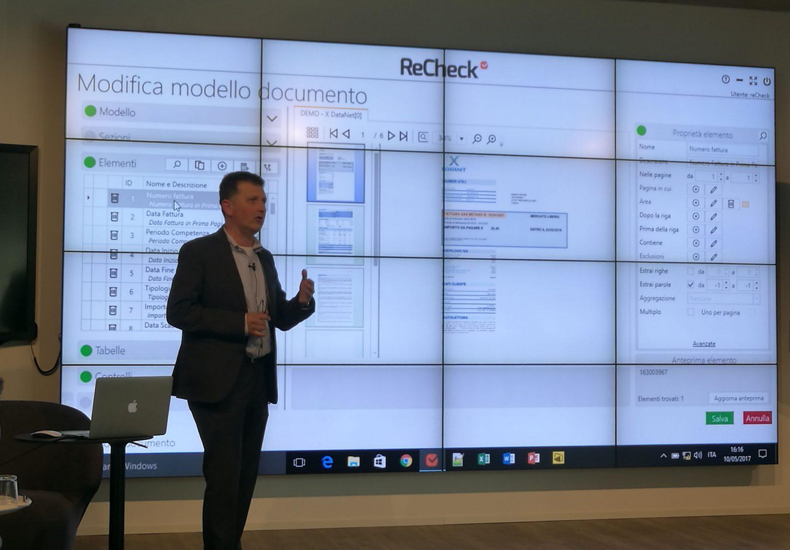 Enrico Clerici presenta ReCheck con esempi realistici di bollette