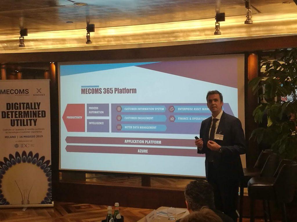 La presentazione di X DataNet del progetto MECOMS 365 a Milano con IDC